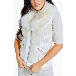 GUESS Jayden Mixed-Media Textured Vest